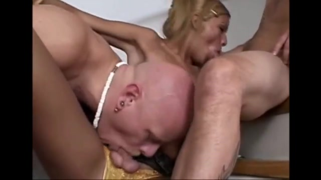 Azul Melina Banged Rock Hard In Three Way