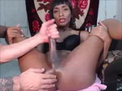 Ebony She-creature Bangs A Bi-curious