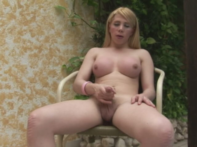 Provocative Ash-blonde She-creature With Huge Mounds Fabi Colt Stroking Her Dick At The Tabouret